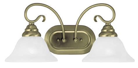 antique brass light fixtures bathroom livex antique brass 2 light coronado bathroom vanity