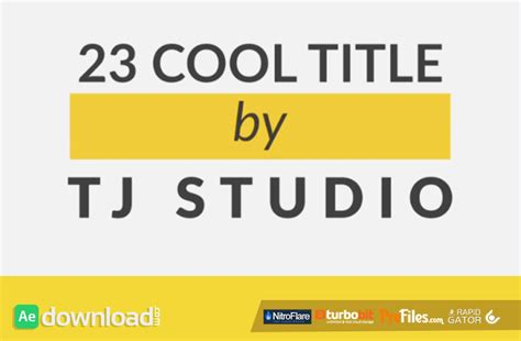 title templates after effects free download 23 cool title animations videohive free download