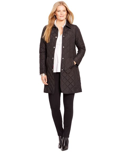 Quilted Plus Size Coats by By Ralph Plus Size Quilted Trench Coat In