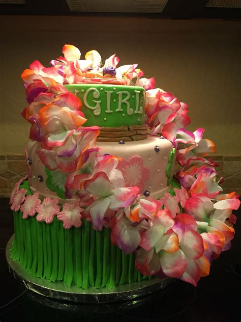 Luau Baby Shower Cakes by Hawaiian Baby Shower Fondant Baby Cake Www