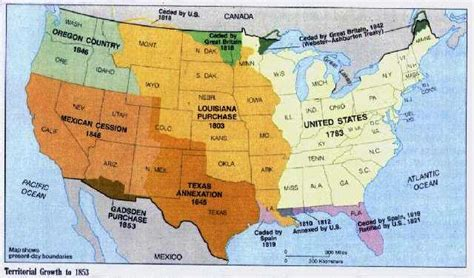 expansion of united states to 1833 map yellow journalism in the american war 4 lead up