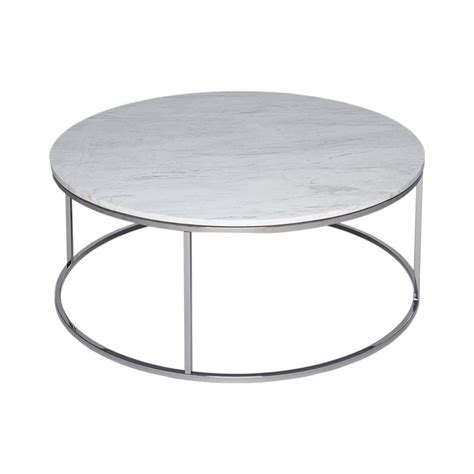 white and silver coffee table buy white marble and silver metal coffee table from fusion