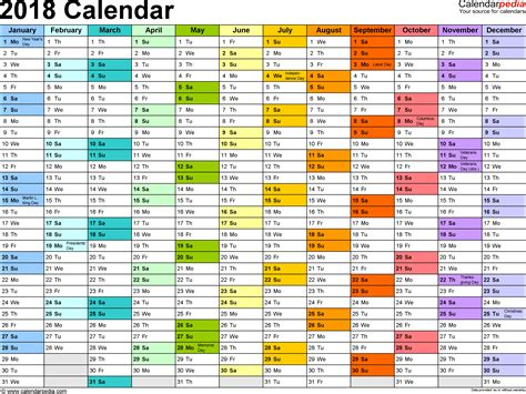 month calendar template excel 2018 calendar with federal holidays excel pdf word templates