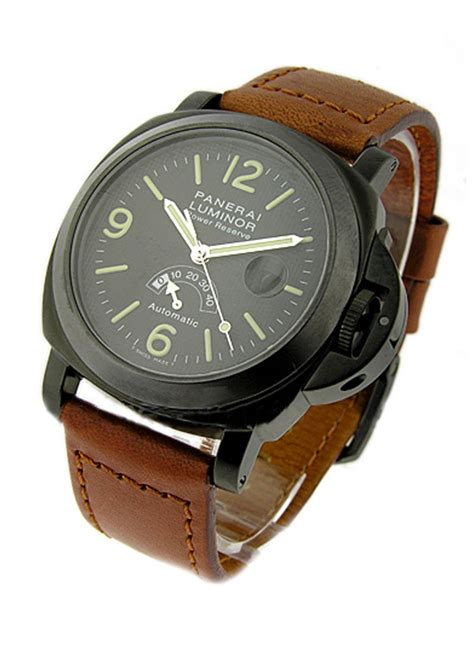 Panerai Power Reserve Silver Brown Leather Automatic pam00028a panerai pvd black editions black essential watches