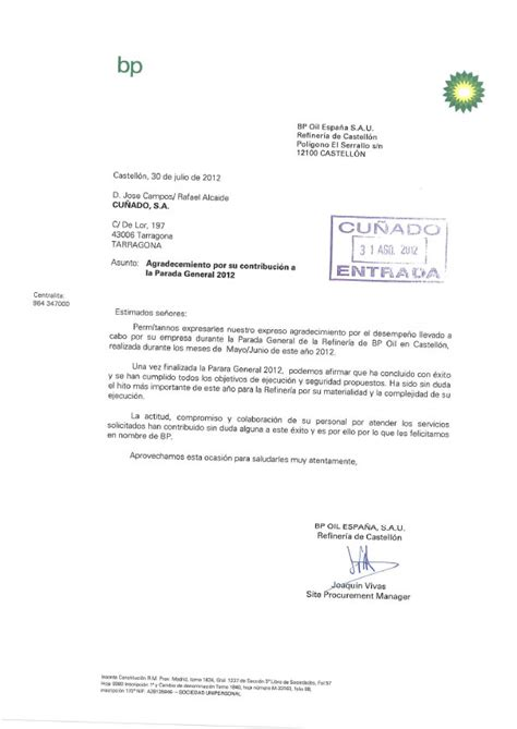 Commitment Letter To Supply Referencias Distribuidores De V 225 Lvulas Y Tuber 237 As Grupo Cu 241 Ado