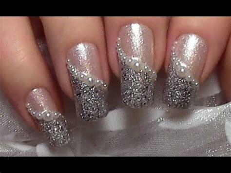 easy elegant pearl nail art design tutorial