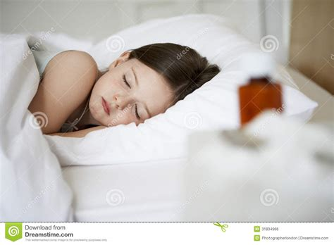 how to get a girl in bed sick girl sleeping in bed royalty free stock image image
