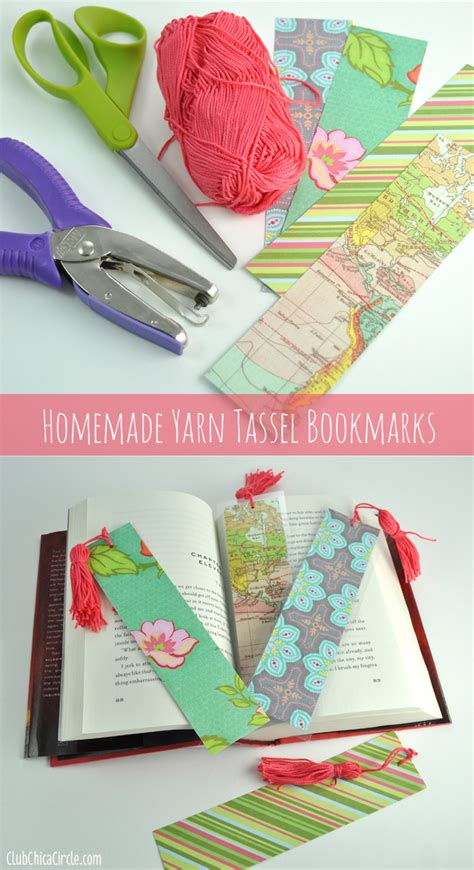 How To Make A Scrapbook With Paper - easy tassel bookmarks