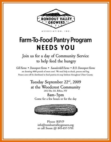 Food Pantry Eligibility by Farms To Food Pantry Program Volunteers Needed Tuesday 9