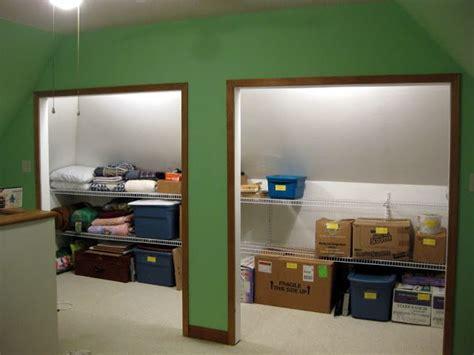 crawl space storage attic closet