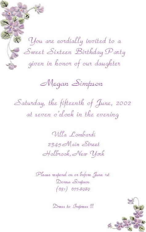sweet 16 invitation templates free best template collection screenprintbiennial part 2
