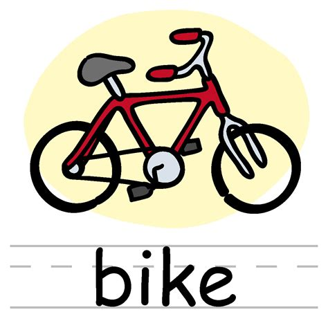 words clipart word bike clipart