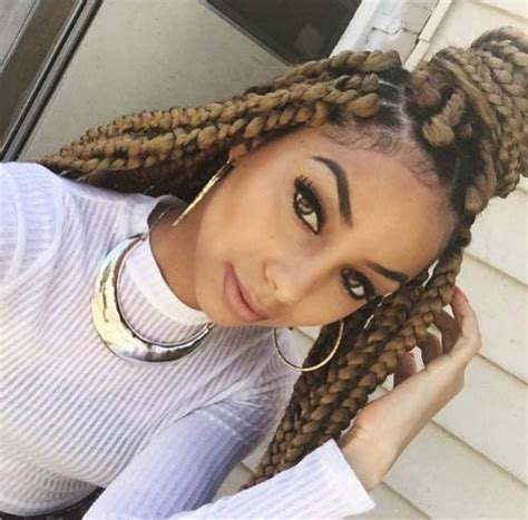 large black and blond braids 21 best jumbo box braids hairstyles page 2 of 2 stayglam