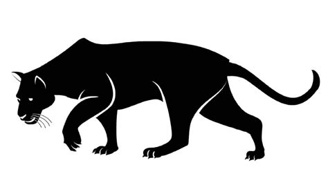 panther clip panther clipart sketch pencil and in color panther