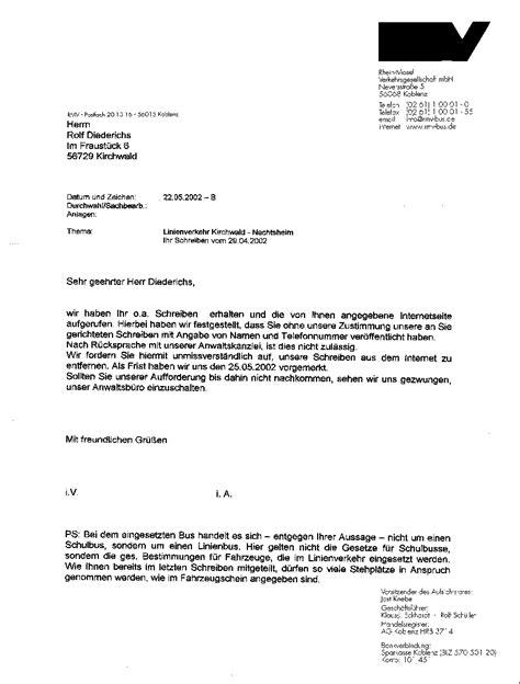 Brief Anfrage Formulieren Schulbus Net
