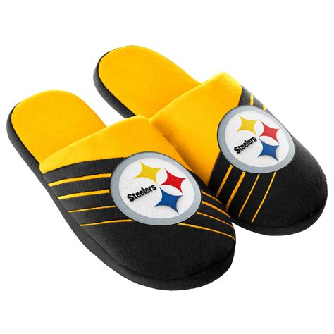 steelers house shoes nfl men s pittsburgh steelers black yellow slippers