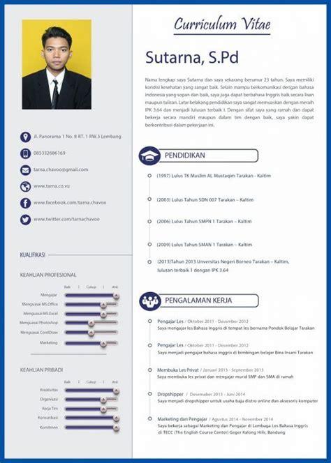 template cv menarik untuk fresh graduate 20 contoh cv lamaran kerja yang menarik kreatif cara
