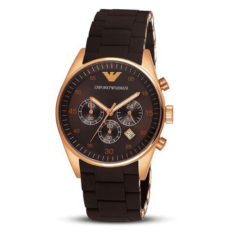emporio armani s ar5890 brown sport chronograph