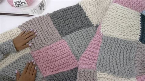 Knitted Patchwork Quilt - how to knit a patchwork blanket with pictures wikihow