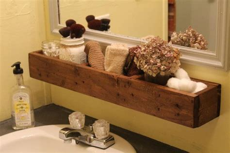 over the bathroom sink organizer reclaimed wood hanging bathroom shelf wood bathroom