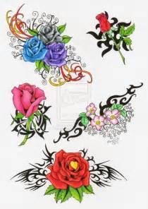 rose tattoo flash by quicksilverartist on deviantart