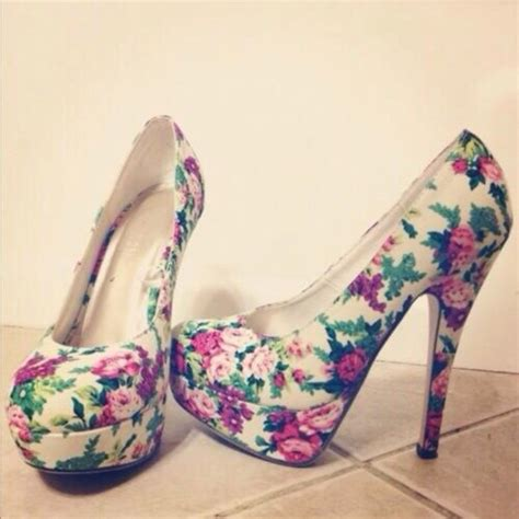 pretty flower shoes shoes high heels high heels shoes