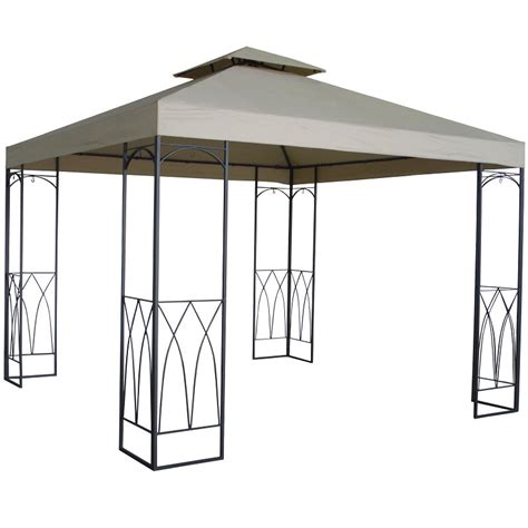 square gazebo ellister luxury arch square gazebo 3m x 3m on sale fast