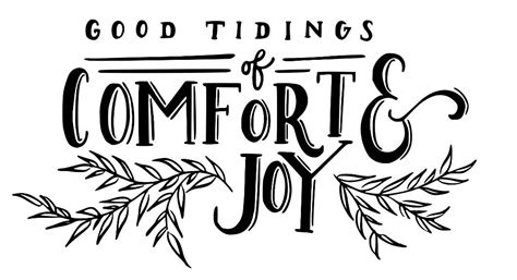 tidings of comfort and joy good tidings of comfort and joy svgpng and dxf files