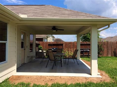 ideas for covered back porch on single story ranch how much does it cost to build a patio in houston texas