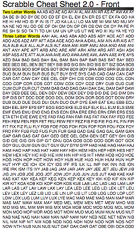 scrabble three letter word list pda scrabble sheet netninja