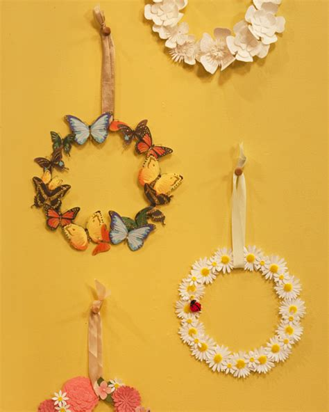 martha stewart diy crafts floral sticker wreath craft step by step diy craft how