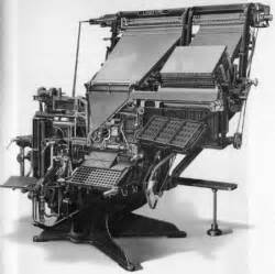 when was the linotype machine invented design culture week 5 design culture week 5