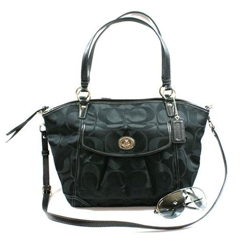 sack swing signature leah shoulder bag swing bag black 13139 coach