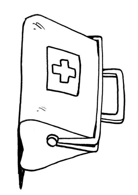 coloring page doctor bag coloring page doctors bag img 12114