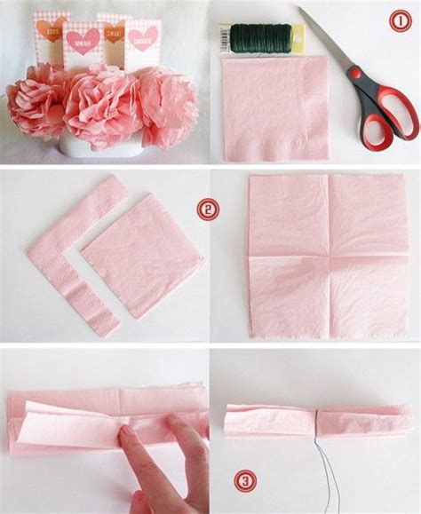 How To Make A Small Tissue Paper Flower - 1000 images about diy flowers vases on