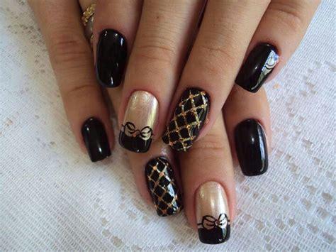 black pattern nails black gold nail design nails pinterest gold