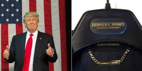 donald trump indonesia jas yang dipakai donald trump buatan indonesia 2018