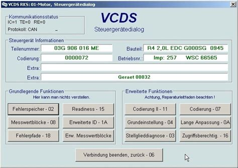 Vcds Audi by Vcds Auswahl Screenshots Vcds Benutzerhandbuch