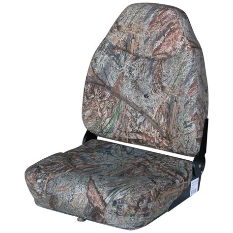 camo boat bench seat wise 174 mid back camo boat seat 203999 fold down seats