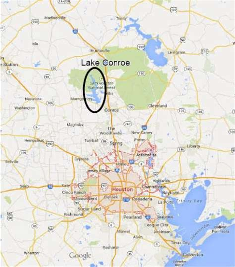 lake conroe texas map houston lake conroe from maps photo 7523456 103223 houston chronicle