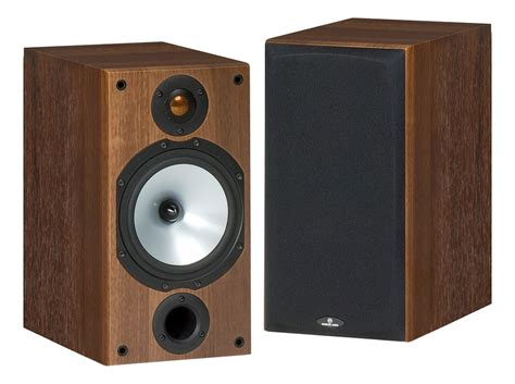monitor audio mr2 walnut bookshelf speakers pair