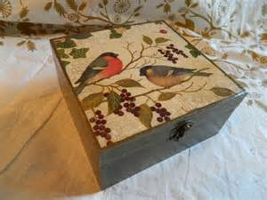Decoupage On Cardboard - decoupage craftingbydominique