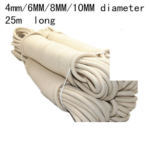 Tali Tiang Bendera 1 4mm 12mm diameter lilin cottonrope tiang bendera tali bendera bendera keselamatan tali terikat