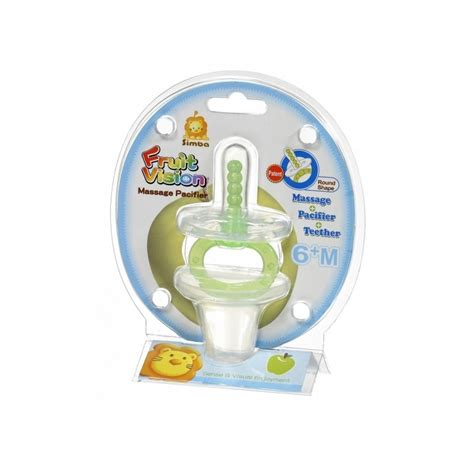 Simba Pacifier simba shape pacifier 6m green apple feeding