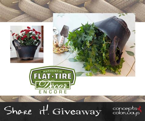 Tire Giveaway - share it giveaway flat tire basket concepts and colorways