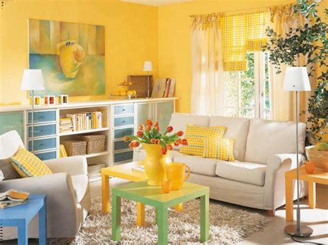 decorating color schemes luminous interior design ideas and shining yellow color