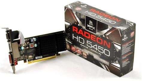 Vga Card Xfx xfx hd 5450 heatsink 1gb ddr3 vga dvi hdmi pci e low profile graphics card