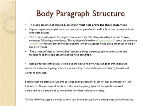 essay structure body paragraph expository essay sophomore essay 1 ppt video online