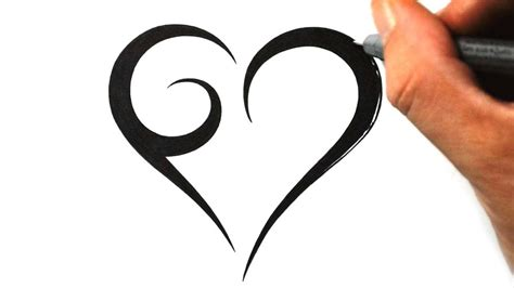 simple heart tattoo cool and easy drawings cliparts co