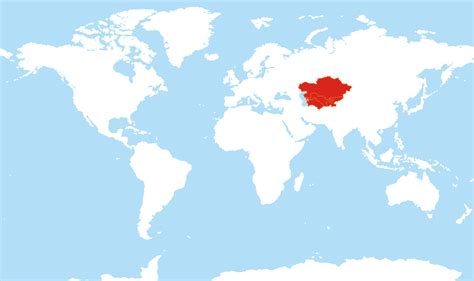 location of asia in world map where is central asia located on the world map